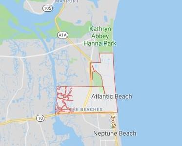 map of atlantic beach
