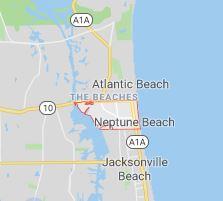 map of neptune beach