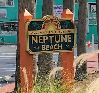 sign on neptune beach florida