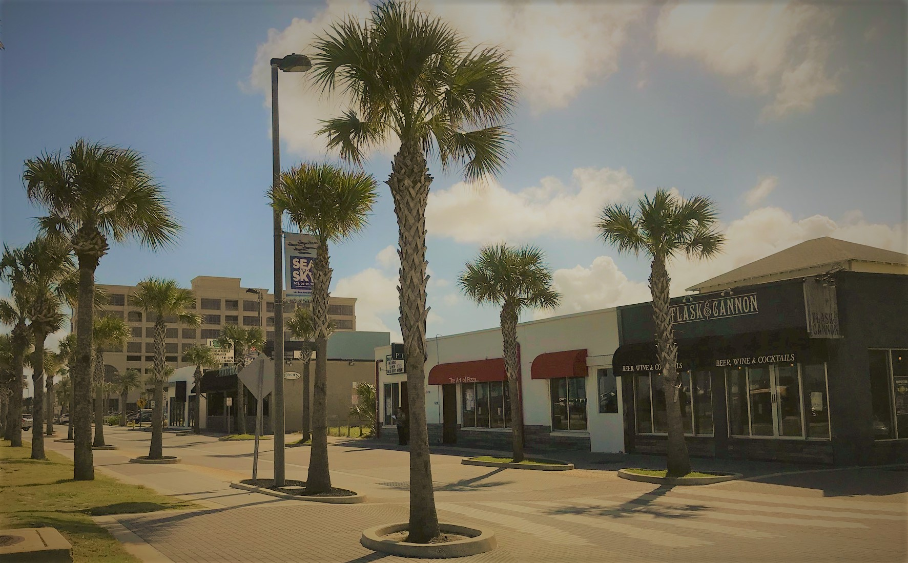 jacksonville beach street scene