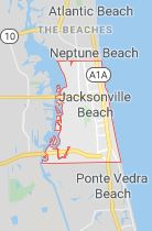 map of Jacksonville beach